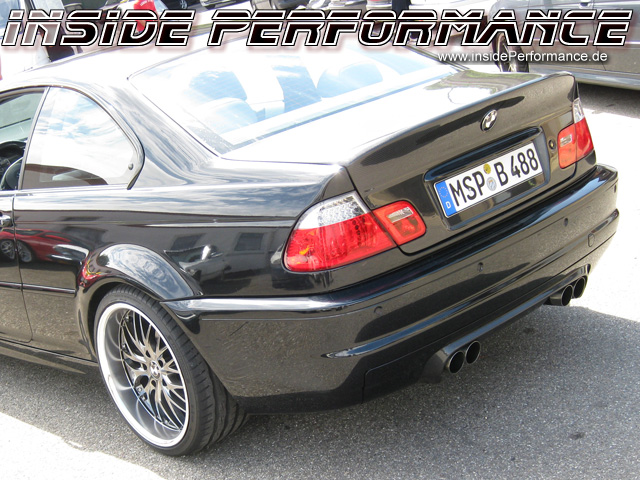 custom quad exhaust system for 3 series bmw e46 all models 4 tip performance look