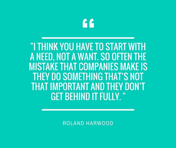Roland Harwood 100 Open quote retail innovation