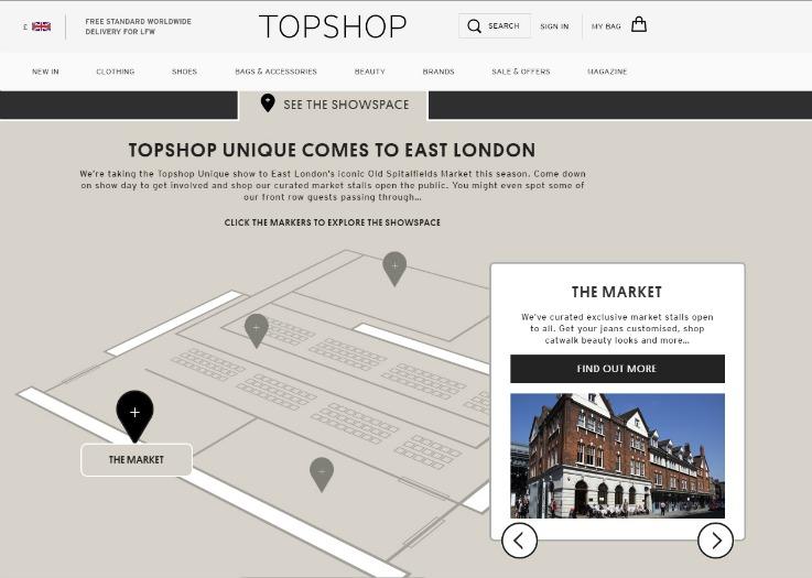 Topshop Unique retail innovation