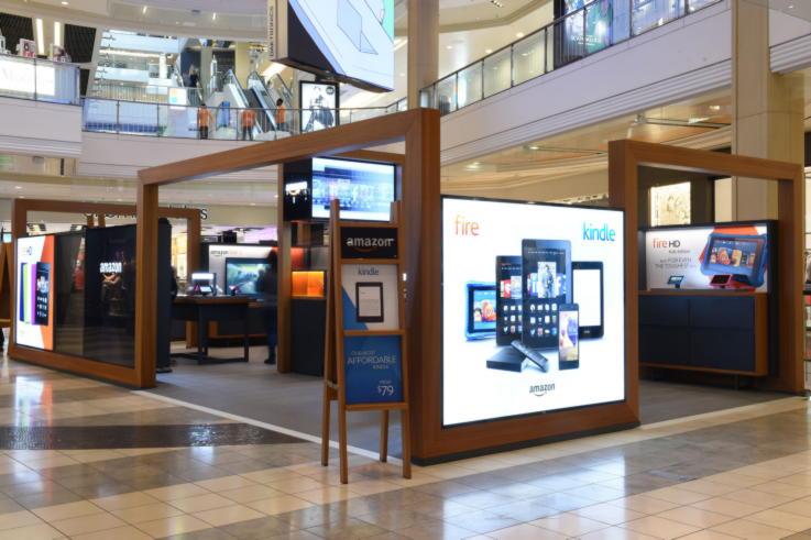 Store Interior Design- Amazon Pop-up