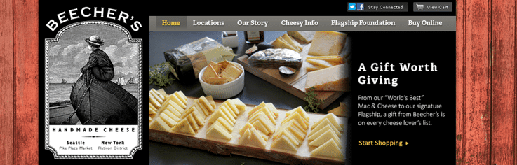 Beecher's Handmade Cheese luxury retail experiences