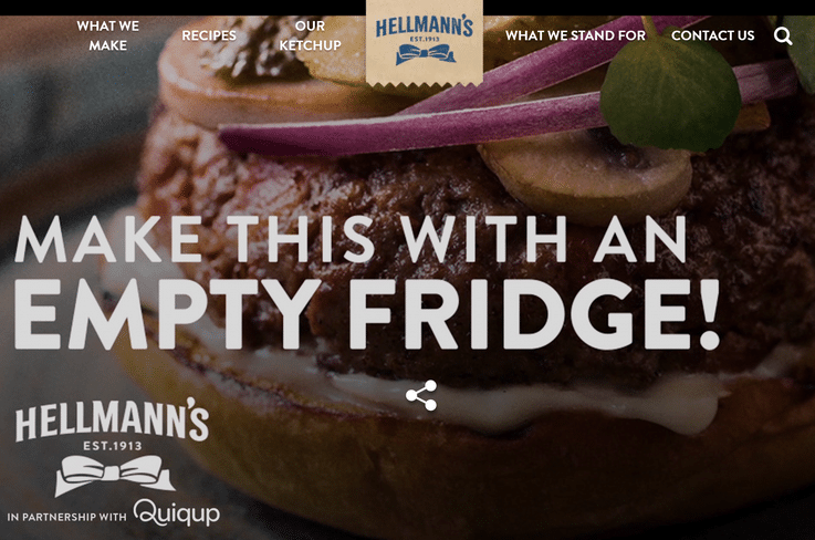 Hellmann's food delivery inspiration