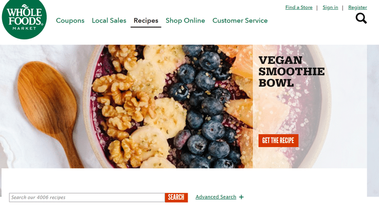 Whole Foods recipe chatbot future grocery