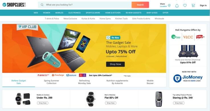 ShopClues - ecommerce marketplaces