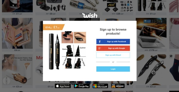 Wish - ecommerce marketplaces