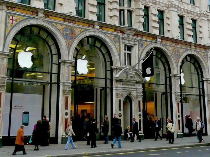 Apple highest sales per square foot
