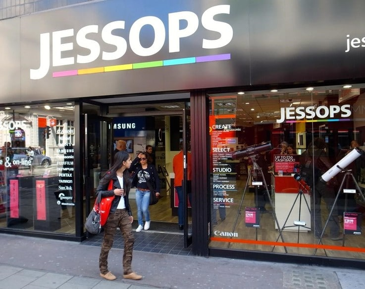 Jessops physical store sales