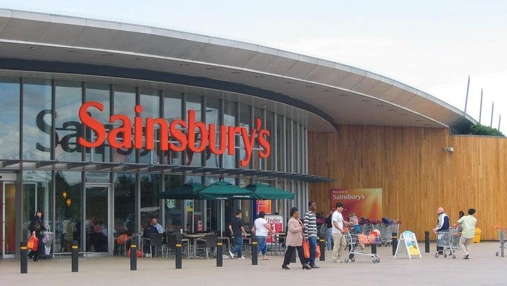 Sainsburys top retail sales in store