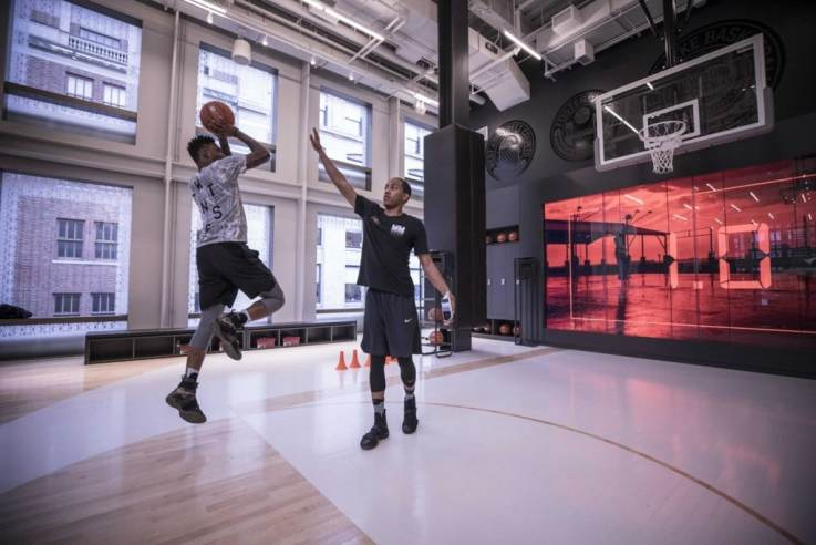 Nike Soho basketball experience in retail