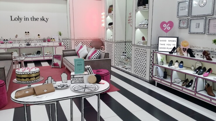Loly in the sky - Store Design