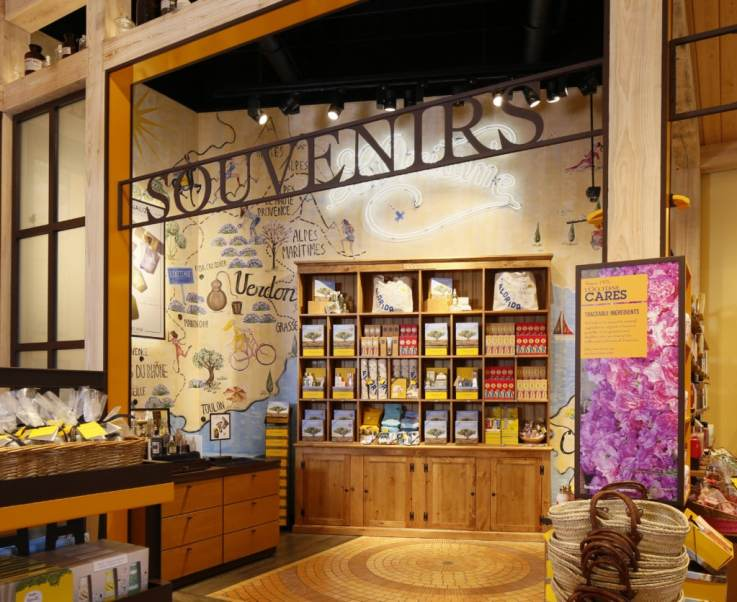 L'Occitane Disney Springs visual merchandising