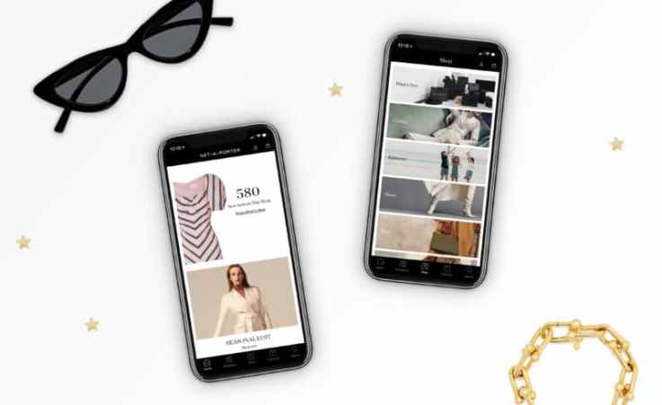 Net-a-Porter mobile retail app