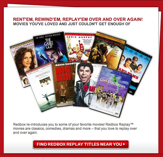 "Redbox announces ""Redbox Replay"""