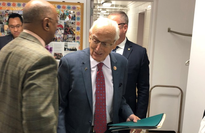U.S. Rep. Bill Pascrell (D-9) at today's event.