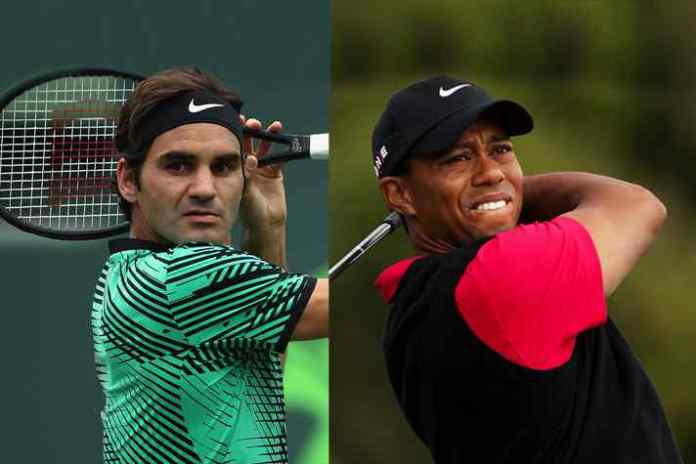 Roger Federer and Tiger Woods