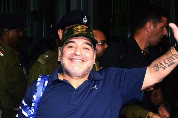 Maradona in Kolkata for charity match against Ganguly's XI - InsideSport