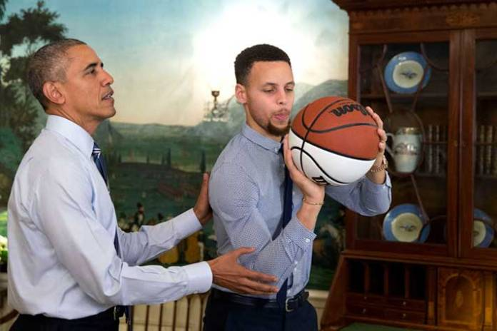 Barrack Obama and Stephen Curry - InsideSport