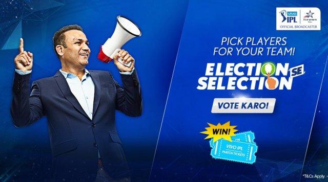 Virender Sehwag in Election se Selection Vote Karo Campaign - InsideSport