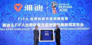 Yadea becomes fifth Chinese brand to support FIFA World Cup Russia - InsideSport