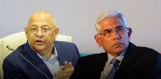 BCCI Acting Secretary Amitabh Choudhary (Left)BCCI CoA chief Vinod Rai (Right): Did CoA shortlist candidates for NCA with no background of cricket? - InsideSport