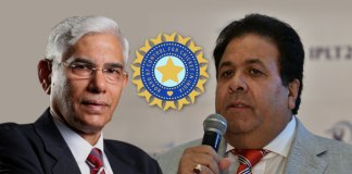 BCCI CoA Chief Vinod Rai (Left) and IPL Chairman Rajeev Shukla (Right): After targeting BCCI office-bearers, CoA seeks exit of Rajiv Shukla - InsideSport