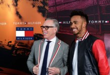 Tommy Hilfiger (left) with Lewis Hamilton (right): Lewis Hamilton global brand ambassador for Tommy Hilfiger - InsideSport