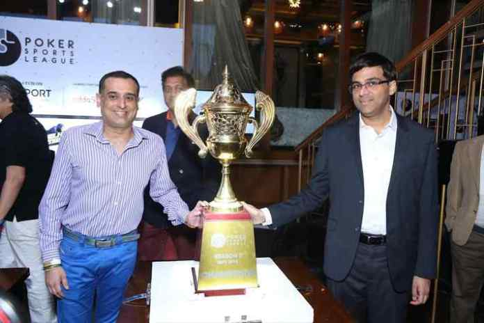 Viswanathan Anand, brand ambassador of Poker Sports League, unveils PSL Season 2 trophy - InsideSport