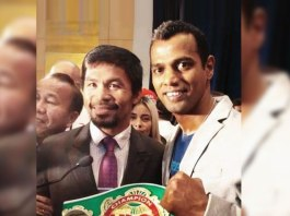 Indian Professional boxer Siddharth Verma with Manny Pacquiao - InsideSport