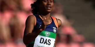 Hima Das becomes the first Indian Athlete to clinch a gold medal in track and field event in U-20 World Championships.