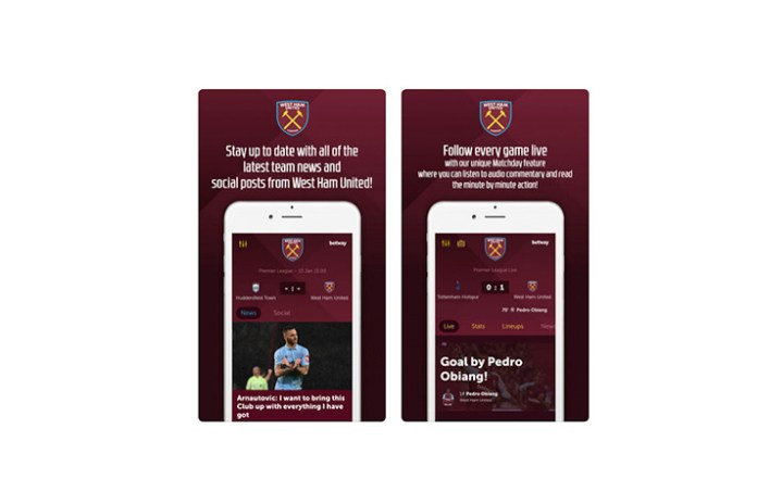 west ham united app,west ham united,lagardère sports,west ham mobile app,west ham united news