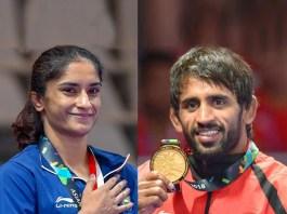 Bajrang Vinesh Khel Ratna,Bajrang Khel Ratna,Vinesh Khel Ratna,Rajiv Gandhi Khel Ratna,Asian Games 2018