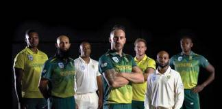Cricket South Africa,CSA New Balance,CSA #WorneAsOne,faf du plessis,South Africa ODI Jersey