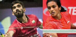Olympic medallist PV Sindhu,PV Sindhu and Kidambi Srikanth,PV Sindhu French Open,Kidambi Srikanth French Open,BWF World Tour Super 750 tournament