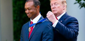 Tiger Woods,US President,Donald Trump,Tiger Woods awards,US civilian honour
