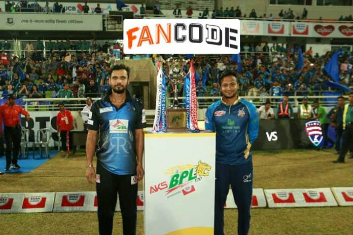 BPL 2019,BPL 2019 Live Streaming,Bangladesh Premier League,FanCode,Sports Business News India