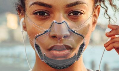 Transparent smart mask emotional expression