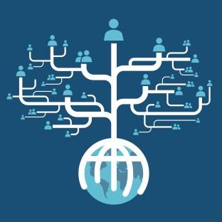 social network globe