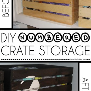 DIY Numbered Crates