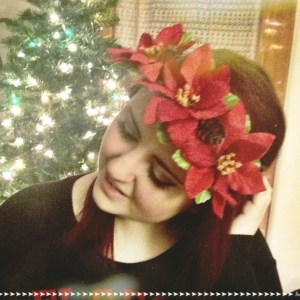DIY Christmas Floral Crown