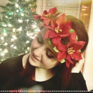 DIY Christmas Floral Crown