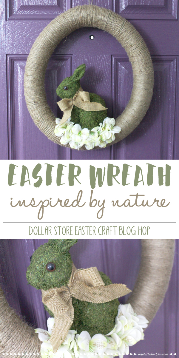 I love this Easter wreath and I can't believe it cost less than $10 to make! So cute!
