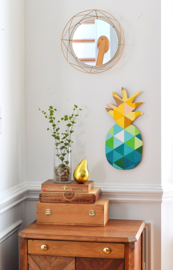 DIY-Teal-Gold-Geometric-Pineapple-Wall-Art-madeinaday.com_-512x800