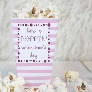 Free Valentine's Day Popcorn Box Printable