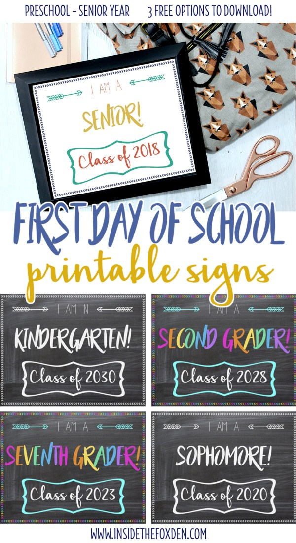 Are your kids heading back to school? Make sure to grab these first day of school printable signs to snap a pic! There are 3 free options to download!