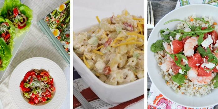These summer inspired salads will make great and healthy back to school lunches!