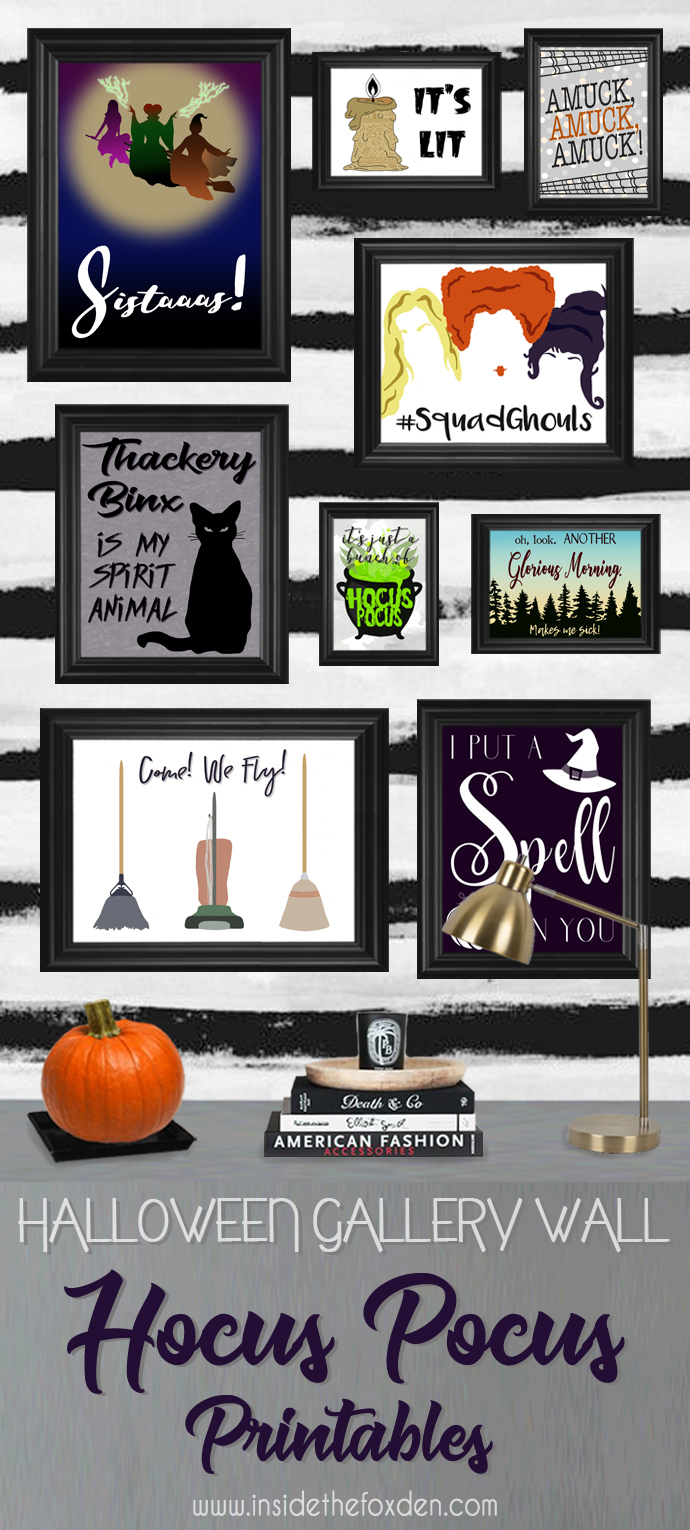 These Hocus Pocus printables are so cute! I love that there are 9 different options to choose from!