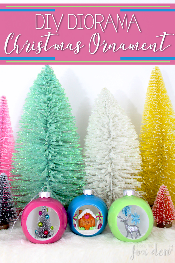 Making a diorama ornament adds so much versatility to your decor! They can be hung on a tree or placed on a shelf to definitely wow your guests! This tutorial gives great step by step instructions if you want to make your own!