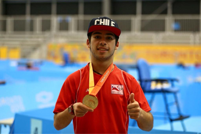 Chilean table tennis Matías Pino has been named Amercias Paralympic Committee Athlete of the Month ©Twitter/Matias Pino