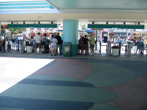 Empty entrance to Disney's Hollywood Studios