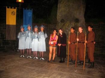 Beauxbatons and Durmstrang students pose